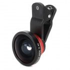 Universal Clip-on Style 0.4X Wide-Angle Lens for Cell Phones - Black + Red