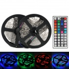 72W 3000lm 600-3528 SMD LED RGB Flexible Lamp Strip w/ 44-Key Controller (2 x 5m)