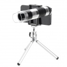 2-in-1 16x Telephoto Lens + 22x Microscope Lens for Iphone 4 / 4S / 5 - Black + Silver