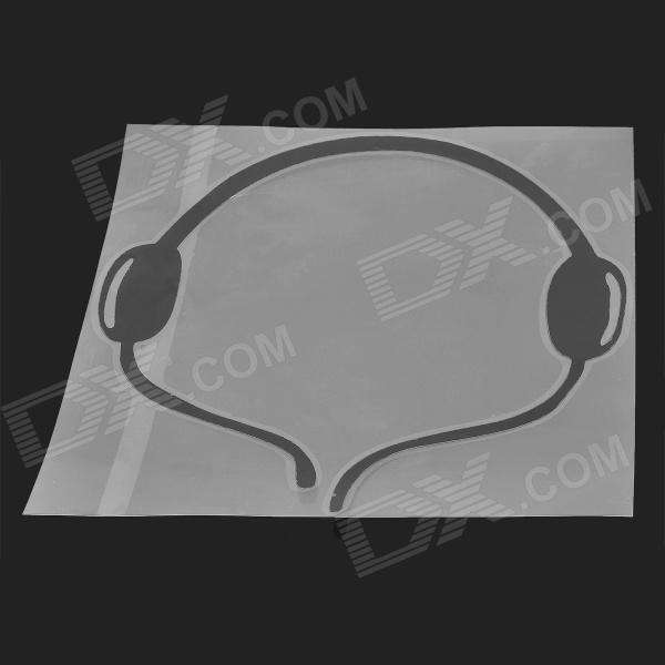 CPTCAM DIY Headphones Style Car Reflective Sticker - Black