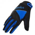 Comfortable Professional Motorcycle / Bicycle Full-Finger Gloves - Blue + Black (Pair XL)
