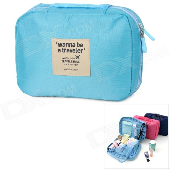 FADIXI 1717 Convenient Nylon Toiletry Storage Organizer Wash Bag for Travel - Blue форадил комби капсулы 12мкг 200мкг 60 60шт