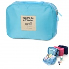 FADIXI 1717 Convenient Nylon Toiletry Storage Organizer Wash Bag for Travel - Blue