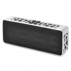 JXD X18 Mini Portable Rechargeable Bluetooth V2.1 Speaker w/ Mic for Cellphones - Black + Silver
