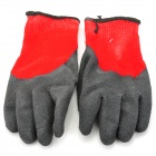 Galilee PNCG 101068 Protective Rubber Coated Labor Gloves - Black + Red (Pair)