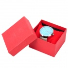 PAIDU 58881 Fashionable Analog Quartz Wrist Watch w/ Stainless Steel Band - Silver + Blue (1 x 626)