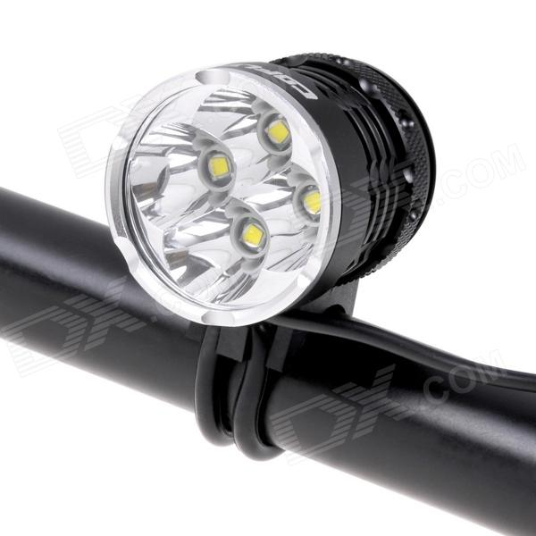 COFLY KX-H7 2100lm 4-Mode White Light Bicycle Lamp w/ 4 x Cree XM-L T6 - Black (4 x 18650) cree xm l t6 bicycle light 6000lumens bike light 7modes torch zoomable led flashlight 18650 battery charger bicycle clip
