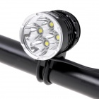 COFLY KX-H7 2100lm 4-Mode White Light Bicycle Lamp w/ 4 x Cree XM-L T6 - Black (4 x 18650)