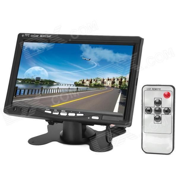 7 TFT LCD 2-CH Digital Rear View Monitor w/ Remote Controller (PAL / NTSC) 7 lcd rearview monitor w remote controller black pal ntsc