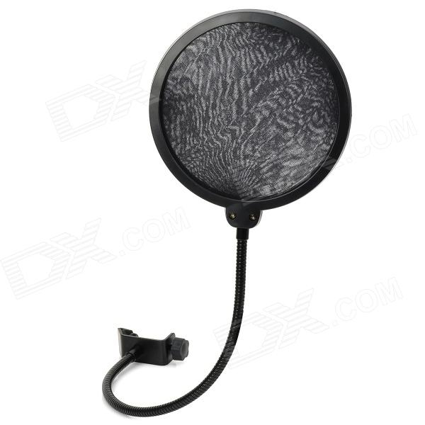 все цены на 006 Double Layer Professional Microphone Bop Cover Net - Black