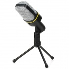 SF-920 3.5mm Dynamic Multimedia Computer QQ / MSN / Skype Microphone - Black + Silver + Yellow