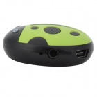 HYTJK007 Beetle Style Rechargeable 3.5mm Jack MP3 Player w/ TF Slot / Mini USB - Green + Black
