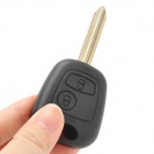 AML031378 Replacement 2-Button Remote Car Key Case for Citroen / Peugeot - Black + Beige