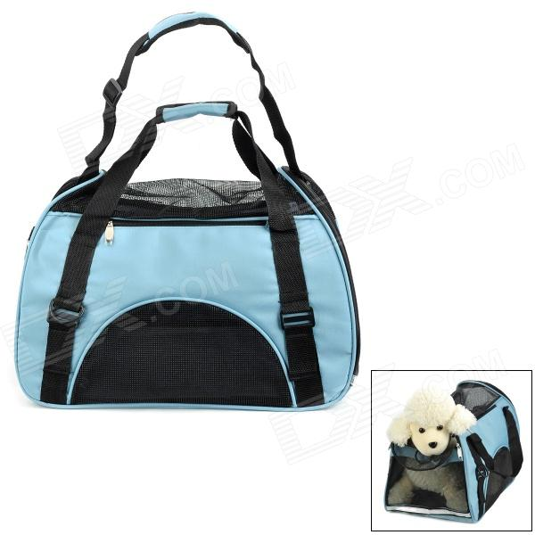 071422 Outdoor Portable Breathable Pet's Dog Cat Shoulder / Hand Bag - Blue + Black цена
