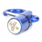 Red / Blue / White Light LED Pet Collar Safety Light w/ Carabiner - Blue + Silver (3 x LR41)