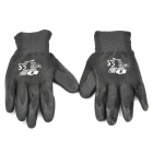 Galilee PNCG 101778 Protective Rubber Coated Labor Gloves - Black(Pair)