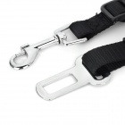 081102 Adjustable Vehicle Car Seat Pet Dog / Cat Safe Belt - Black