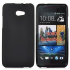 Stylish TPU Matte Back Case for HTC 9060 / Butterfly S - Black