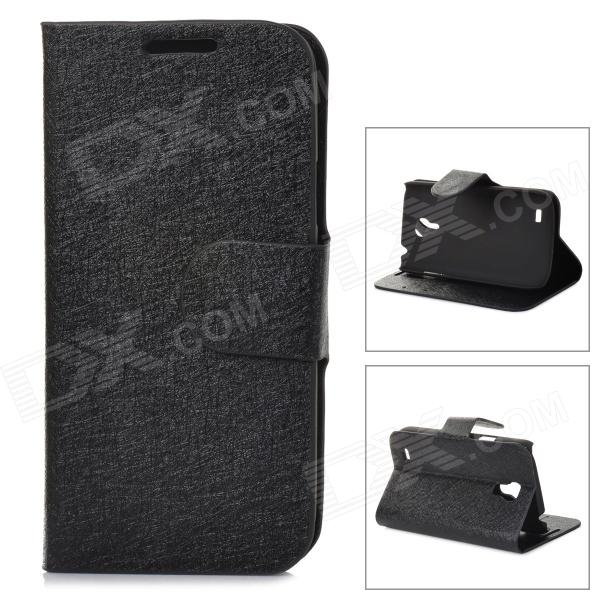 LXS9190 Flip-Open PU Leather Stand Case w/ Card Slots for Samsung Galaxy S4 Mini / i9190 - Black it8712f s lxs