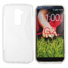 Stylish TPU Back Case for LG Optimus G2 - Translucent White