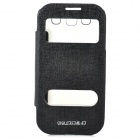 Stylish Flip-Open PU + TPU Case for Samsung Galaxy SIII - Black