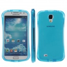 Newtop Protective Soft TPU Back Cover Case for Samsung Galaxy S4 / i9500 - Translucent Blue