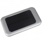 One percent  BM-2129 2600mAh Portable Solar Powered Mobile Power Battery Charger - Silver