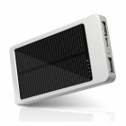 One Percent BM-2136 2600mAh Portable Solar Powered Mobile Power Battery Charger - Silver