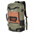 ShishaPancma Multi-Functional Laptop Canvas Backpack / Luggage Bag - Army Green + Brown (9.5L)