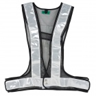 Salzmann HY2003 Safety Reflective Vest for Cycling / Roadworks - Black + White