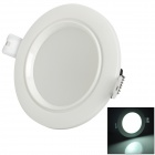 JR-5W 390lm 6500K LED White Light Ceiling / Down Lamp - White + Black
