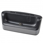 TEMEI USB Desktop Battery + Cell Phone Data Charging Dock Station for Samsung i9200- Black + Grey