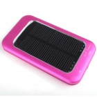 One percent  BM-2129 2600mAh Portable Solar Powered Mobile Power Battery Charger - Deep Pink