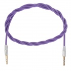 3.5mm TRS Male to Male Extension Audio Cable - Purple (98cm)