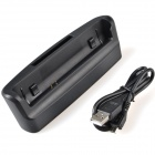 TEMEI USB Desktop Battery + Cell Phone Data Charging Dock Station for Sony m36h - Black