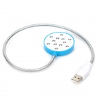 HONK HK-3006M 12 LED USB Reading Light w/ Switch + Mirror for Laptop - Blue + SIlver + White