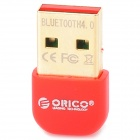 ORICO BTA-403-RD Mini Bluetooth V4.0 Chipset CSR8510 USB 2.0 Receiver - Red