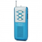 DEKKO DK-9922 Sports Mini Auto Scan FM Radio w/ Stereo Earphone - Silver + Blue + Black