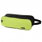 HX LTB002 Waterproof 600D Dacron + PVC Toiletry Bag for Travel - Black +Green
