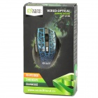 SOUND FRIEND SF-8196 Wired USB 2.0 800 / 1200 / 1600 / 2400 DPI Optical Game Mouse - Black + Green