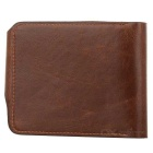 Men's Retro Cowboy Patterned PU Leather Folding Wallet w/ Multiple Card Slots - Coffee