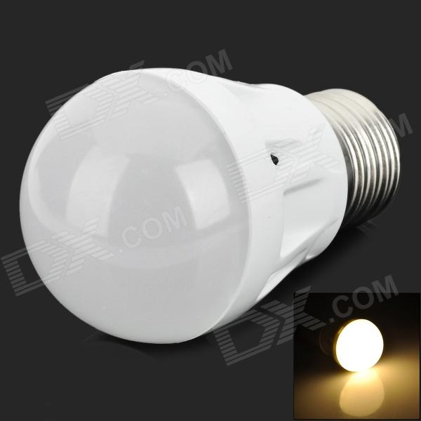 MT-3W-01-NBG E27 2.4W 80lm 3500K 17-2835 SMD LED Warm White Light Bulb - White (220V)