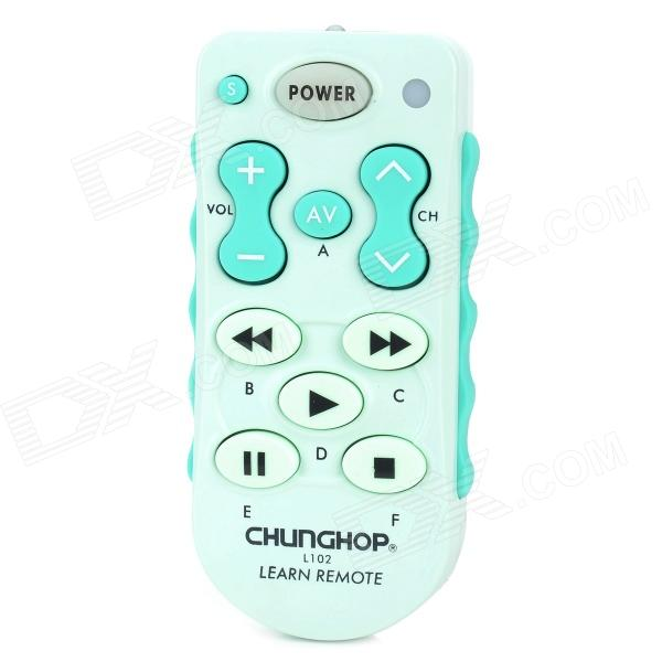 Фото - CHUNGHOP L102 Universal Single 11-Key Learning IR Remote Control - Cyan (2 x AAA) 1pcs chunghop rm l987e tv sat dvd cbl cd ac vcr smart tv 3d universal remote control learning equipment with lcd display