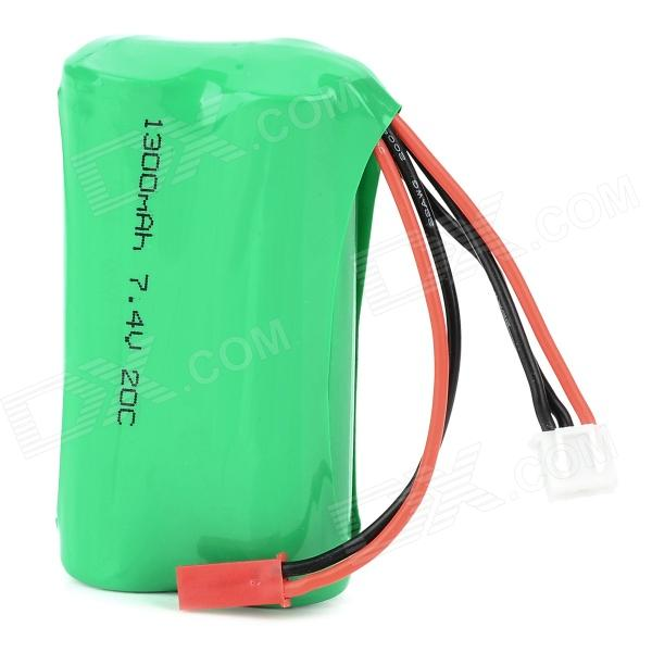 7.4V 1300mAh 20c Li-ion Battery for R/C Helicopter - Black + Green