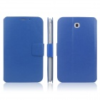 ENKAY ENK-7030 Protective PU Leather Case Cover for Samsung Galaxy Tab 3 7.0 T2100 / T2110 - Blue