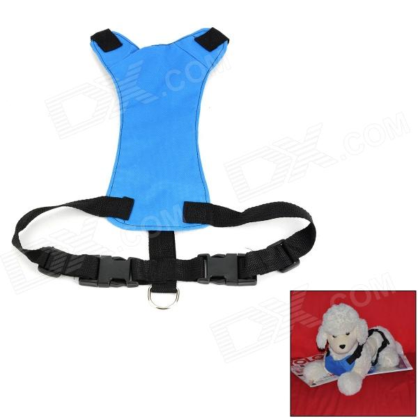 081101 Multifunction Safety Adjustable Car Seat / Chest Belt for Pet Dog - Blue (M)