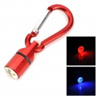 Red / Blue / White Light LED Pet Collar Safety Pendant Light w/ Carabiner - Red + Silver (3 x LR41)