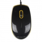 Sunrose 2385 Wired USB 1000dpi Optical Mouse - Schwarz + Gelb (148cm-Kabel)