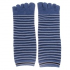 Fashionable Men's Wool Toe Socks - Blue + Black + White (Pair)