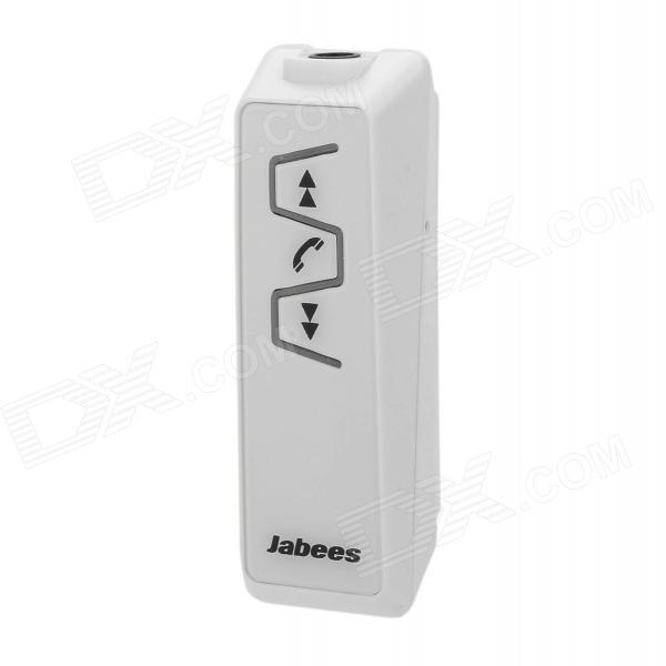 Jabees IS901 Universal Bluetooth V3.0 Clip-on stereokuuloke w / mikrofoni - valkoinen + musta